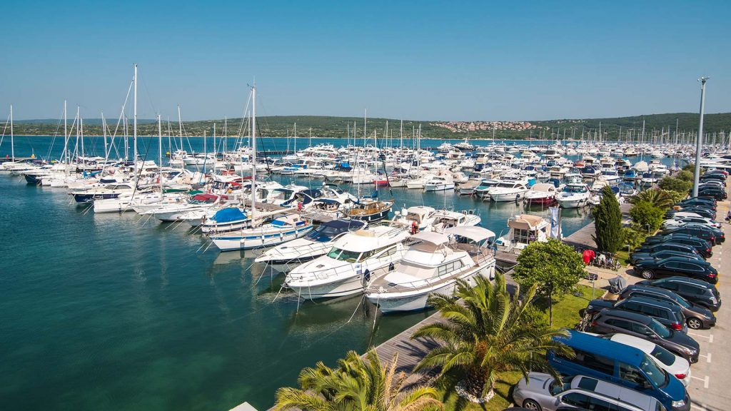Marina Punat in the city of same name is located at Southwest of island Krk.