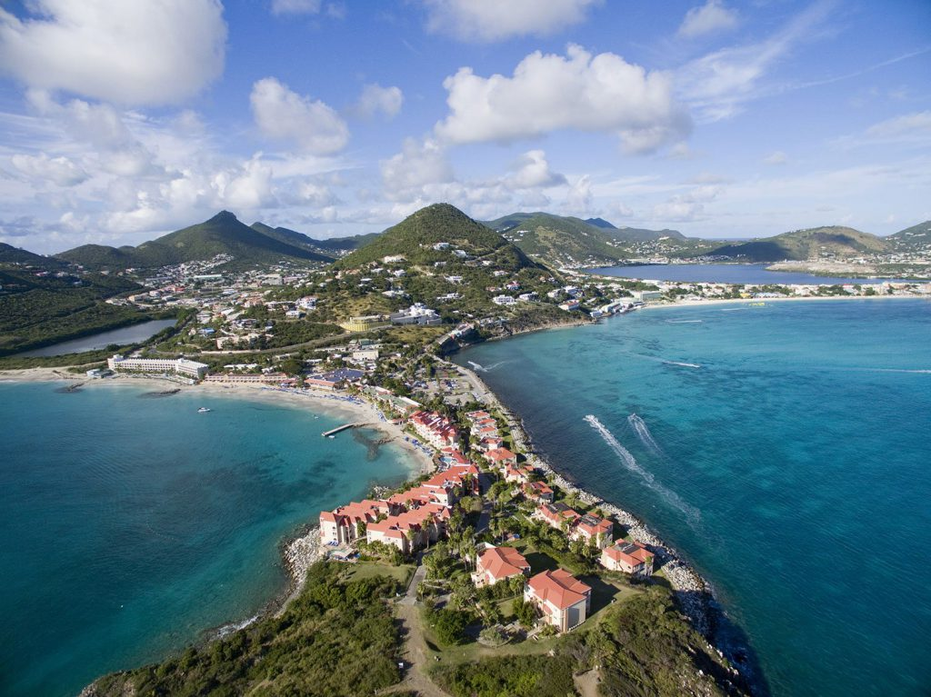 Famous shopping stop for its duty-free goods in numerous boutiques, St Martin is also the smallest island divided between two countries with north side belonging to France and south end being Dutch.