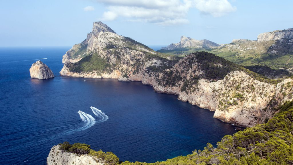 Mountain range Serra de Tramuntana is UNESCO's World Heritage site and its frozen peaks offer chilling break from unending warm afternoons.