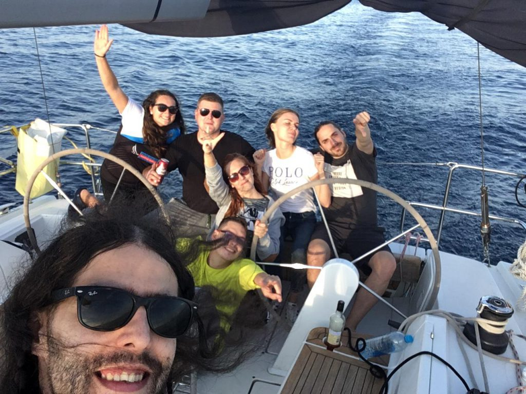 Our team having a great time in Adriatic sea. We love you, Croatia.